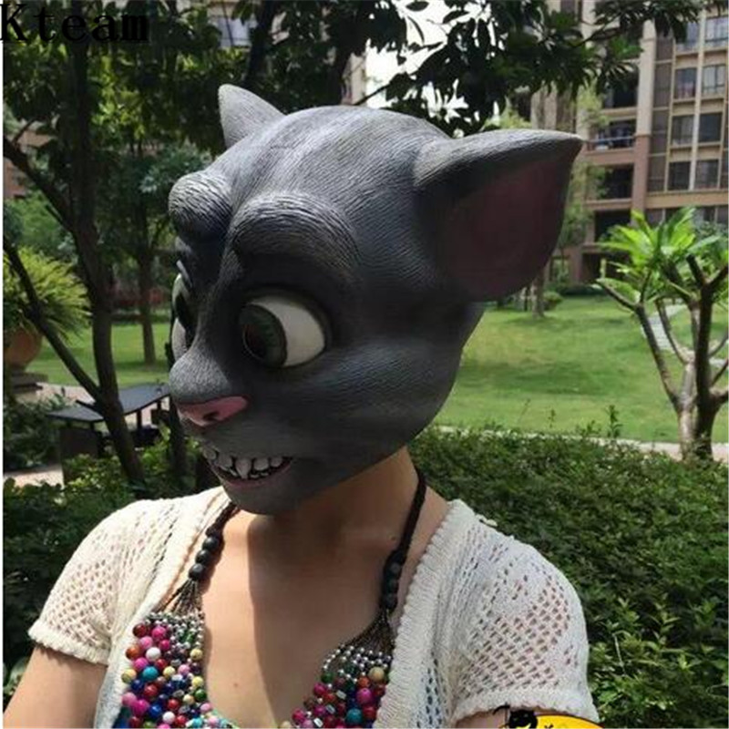 Deluxe latex rubber halloween full head cat mask carnaval easter deluxe latex rubber halloween full head cat mask carnaval easter party costume cat head realistic silicone animal masks garfield us61 fandeluxe Choice Image