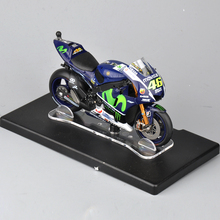 1/18 Scale VALENTINO ROSSI#46 Moto Model Yamaha YZR-M1 #46 World Championship 2015 Motorcycle Diecast Collection Kids Toys