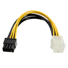 5PCS PCI Express PCI-E 6 pins to 8 Pins Graphic Card Power Adapter Cable Lead Wire For PC 10CM High Quality