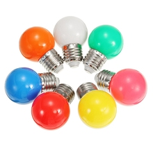 LED Lamp Bulb 220V 1W Colorful Globe LED Light Bulb E27 7 Colors Christmas Decorations For Home Energy Saving Lamp(China)