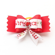 Armi store Handmade Accessories Dogs Red Crystal Core Ribbon Dog Bow 6025023 Clipping Dogs Christmas Bows