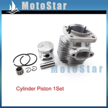 44mm Cylinder Head + 12mm Piston Pin Bearing Rings Kit For 49cc 2 Stroke Engine Chinese Kids Mini Quad ATV Pocket Dirt Bike
