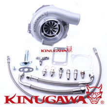 "Kinugawa Ball Bearing Billet Turbocharger 4"" GTX3076R AR.61 T3 4 Bolt Outlet External Gated"