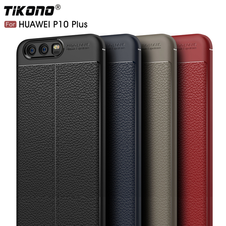 TIKONO Case For Huawei P10 Plus Cover Silicon TPU Luxury Leather Slim Soft Protective Cell Phone Cases for Huawei P10 Plus Case 2