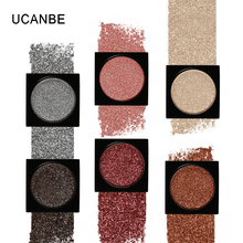 UCANBE Single Shimmer Iridescent Duochrome Eyeshadow Palette DIY Mermaid Glitter High Pigment Makeup Smoky 3D Sparkle Eye Shadow(China)