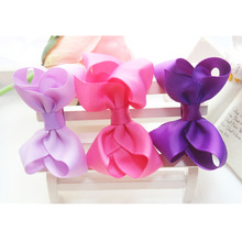 F26  Free shipping Baby Girl Hair Bow with Ribbon Lined Clip on Card Perfect  Children Hairpin