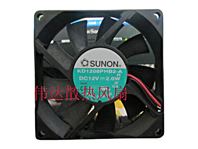Free Shipping For SUNON KD1208PHB2-A, H DC 12V 2.0W 2-wir 80x80x15mm Server Square fan<br>