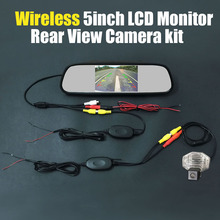 Wireless 5inch Mirror LCD DVD Monitor Car Rear View Backup Reverse Review Kits Camera For Toyota Sienna / Wish 2009~2014