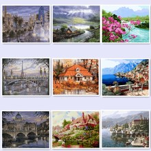Canvas Paintings Home Decoration Oil Painting By Numbers Scenery Pictures 40x50cm Coloring Wall Art landscape WQ31