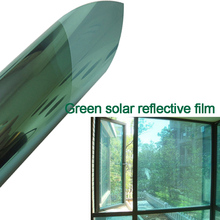 One Way Mirror Green Silver Sun Control Window Tint Film Sun Reflective Heat Rejection Window Film 1.52mx20m
