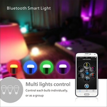 E27 Bulb Phone Bluetooth 4.0 smart led bulb RGB 6W E27 Multicolor Smart LED dimmer Lamp Light for IOS Android APP Remote Control