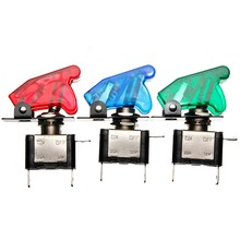 rand New Green Blue Red 12V 20A Car Cover LED SPST Toggle Rocker Switch Control On/Off