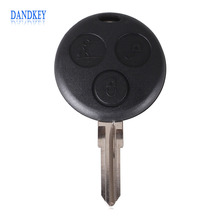 KEYYOU Replacement For Mercedes Benz SMART Fortwo Cas 3 Button Uncut Blank Blade Remote Key Shell Fob Replace Free Shipping