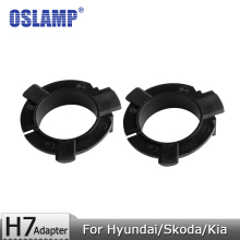 Buy Oslamp Hyundai/Skoda/Kia/Nissan H7 Led Headlight Bulbs Black Plastic Adapter Holders 1 Pair Fixed Adapter Base H7 Lamps for $5.63 in AliExpress store