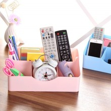 BF050 Fashion Love design desktop storage box finishing cosmetic box 5case 25*13*11.5*5.5cm free shipping(China)