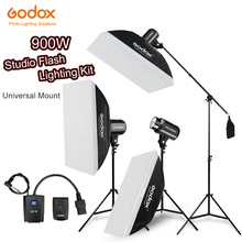 900Ws Godox Strobe Studio Flash Light Kit 900W - Photographic Lighting - Strobes, Light Stands, Triggers, Soft Box,Boom Arm