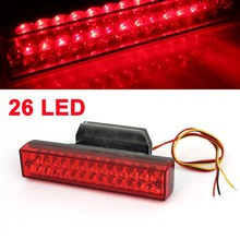 Driving Safety 26 LED Brake Light Parking Lamp Bar Red DC 12V for Auto Car