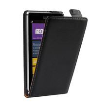 Genuine Leather Cover Flip Case For Nokia Lumia XL 515 625 1020 925 820 900 1320 520 950 640 640XL 435 535 530 830 930 630(China)