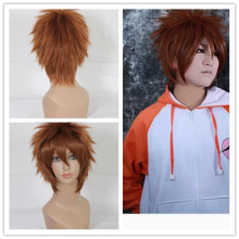 MCOSER FREE SHIPPING >>>COOL>>>New Cheap Sekai Ichi Hatsukoi Yanase Yuu Short Synthetic Short Brown Cosplay Wig(China)