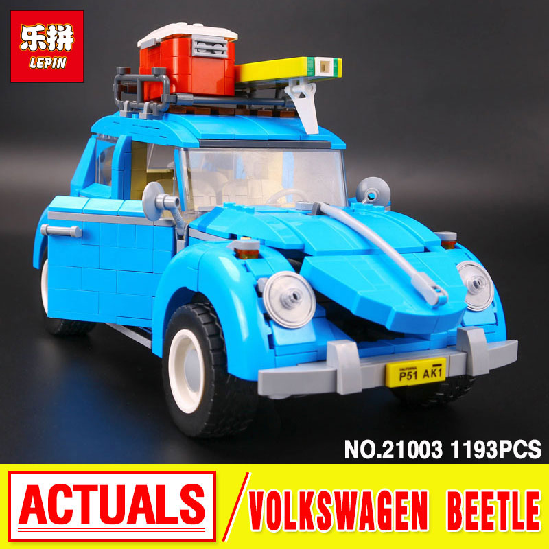 2016 LEPIN 21003 Genuine  Techinc Series City Car Volkswagen Beetle model Assembling Building Blocks Compatible Toy 10252<br>