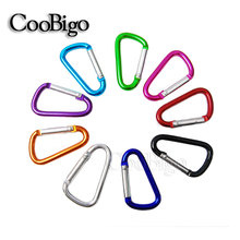 2pcs Pack Size 4# Multicolor Aluminum Spring Carabiner Snap Hook Hanger Keychain Hiking Camping Water Bottle Backpack Bag Parts