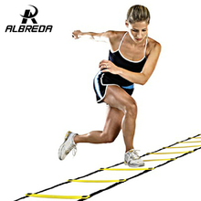 ALBREDA Top Quality 5M (16.5 feet) * 9 rungs long Soccer Training Speed Agility Ladder arry Bag Outdoor Fitness Equipment ladder