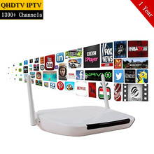 Qhdtv Arabic IPTV Box Android Smart TV Box Support 1300+ Arabic France Europe Italia Sports Kids Channels Free IPTV Set Top Box