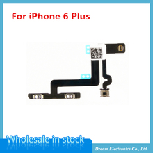 10pcs/lot High quality New Mute Control Volume Button Switch Flex Cable Ribbon for iPhone 6 Plus 5.5'' Replacement Innet Parts