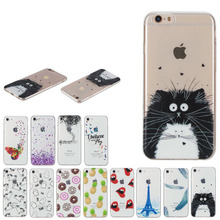 HotSale New Summer Fruit pineapple Donuts Totoro Unicorn Clean Silicone Soft TPU cover For iphone 7 5 5s SE 6 6S plus phone case