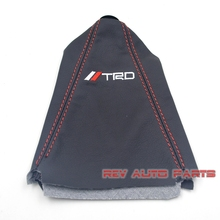 Free Shipping PU Red Stiching Universal Car Racing Style TRD Gear Shift Knob Boot Cover(China)