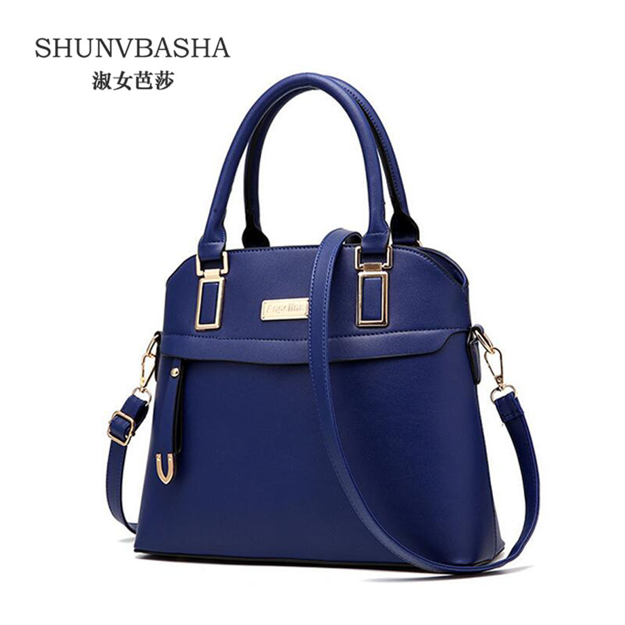 Women Handbags 2016 New Arrival Ladies PU Leather Crossbody Bags High Quality Tote Female Deep Blue Shoulder Bags Sac A Main<br><br>Aliexpress