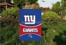 "New York Giants National Football Team Garden flag kintted polyester double sides 13""X18"" custom flag Home Deco Indoor Outdoor"