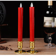 Candle light high imitation candle flame Led electronic plastic long pole swing candle lamp church for the Buddha festival decor