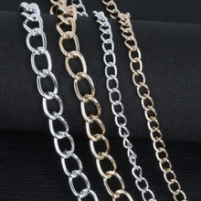 Plated Silver/Light Gold Link-Opened Curb Aluminum Chains Twist Chains For Necklace Bracelet DIY Jewelry Findings&Craft Making(China)