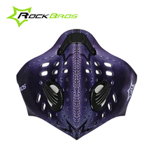 ROCKBROS New Hot! Bike Cycling Anti-dust Breathable Half Face Mask With Filter Neoprene Activated Carbon Haze 5 Styles New