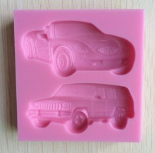 Cake Baking Mold Fondant Cake Decorating Tools Silicone Mold Car  Shaped