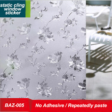 GIGIZAZA Opaque Privacy Glass Window Film 3D embossing 45cm width European flower static Cling Window stickers Office bathroom