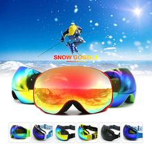 brand ski goggles double layers UV400 anti-fog big ski mask glasses skiing men women snow snowboard goggle(China)