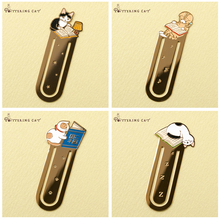 Creative Metal iron bookmark for books Cute cat 4 style bookmarks Paper clip Stationery Office accessories School supplies