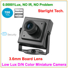 Lihmsek Cheapest! Top 700TVL 3.6mm Board Lens Ultra Low Lux Day and Night Color image Mini Square Camera(China)