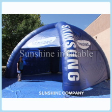 Outdoor lawn 20ft blue inflatable igloo inflatable spider tent with 4legs and removeable side panels for different events