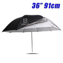 "36"" 91cm double-deck umbrella Photo Studio Flash Light Grained double-deck Umbrella"