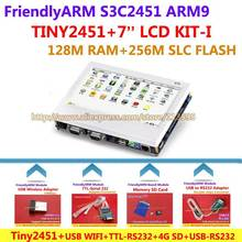 FriendlyARM ARM9 S3C2451 Board Kit -I TINY2451 + 7 inch LCD + USB WIFI + 4G SD Card + USB - RS232 + USB - TTL , Linux Android(China)