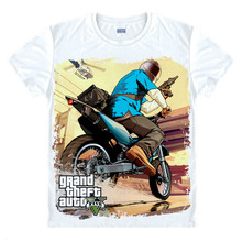 Grand Theft Auto 3D XBOX GTA 5 Fancy Men T Shirt Short Sleeve Street Style High Quality Multiple Styles MOTO Unisex gta5 T-shirt(China)