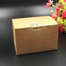 350gsm brown paperboard packaging kraft box easy assembly 9x6x6cm handmade gift package box 50pcs/lot