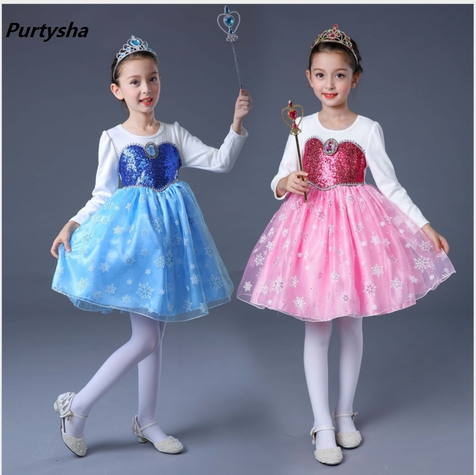 2017 Autumn Girls Dresses Long Sleeve Communion Dresses Annabelle Kids Dresses For Girls Christmas Party Dress For Children 3-12<br>