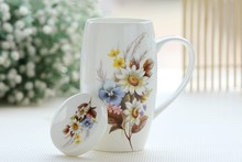720ML, chinoiserie colorful painting, bone china mighty mug, sublimation mug blanks, wow cup, office decoration china supplier(China)