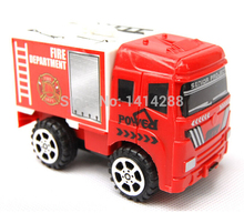 1:64 Mini FIREMAN Toy Red Truck Fire Truck Pull Back Car Boy Toy Educational Toy Best Gift For Children
