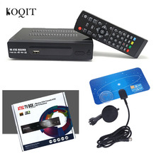 Canada Home Indoor VHF UHF ANTENNA + TERRESTRIAL ATSC TV BOX 1080P HDMI Digital/Analog HDTV Analog TV CONVERTOR HD RECEIVER