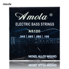 Amola  Electric Bass Strings set 045 Nickel Alloy Wound Steel Stings 045 -100 Bass Strings 4strings/set AS100